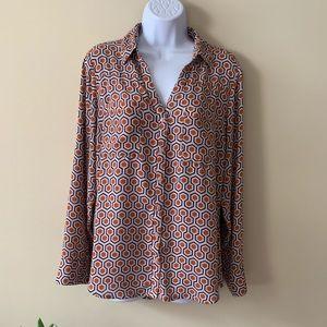 Express Portofino shirt Orange blouse large